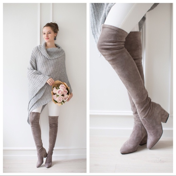 0d843b267c7 Goodnight Macaroon Shoes - Goodnight Macaroon Carina Taupe OTK Boots